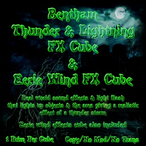 Bentham Thunder & Lightning & Eerie Wind FX Cubes (Boxed)