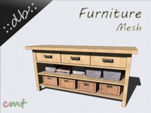 ::db furniture:: Natur wooden Dinning Room Buffet with Decor