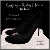 ~*By Snow*~ Gypsy Heels - Ruby