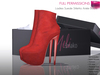 Full Perm Mesh Ladies Suede Stiletto Ankle Boots