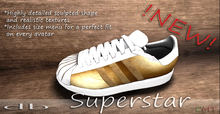::db:: superstar Gold Sneakers Men's