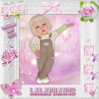 CCC Lalaphants Overalls - Toddleedoo BABY Only!