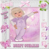 CCC Bunny Overalls - Toddleedoo KID Only!