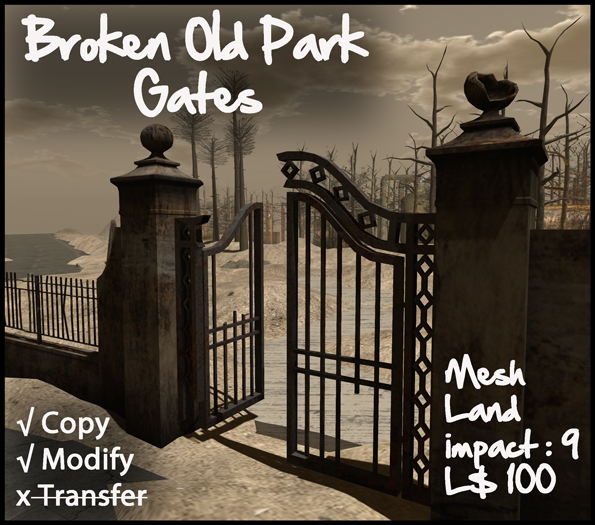 Broken Park Gates - Boxed