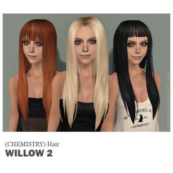 (Chemistry) Hair - Willow 2 - HUD.1