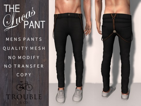 Trouble & Co. - The Lucas Pant - Charcoal