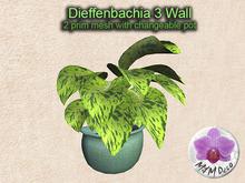 Mesh Plant Dieffenbachia 3 Wall