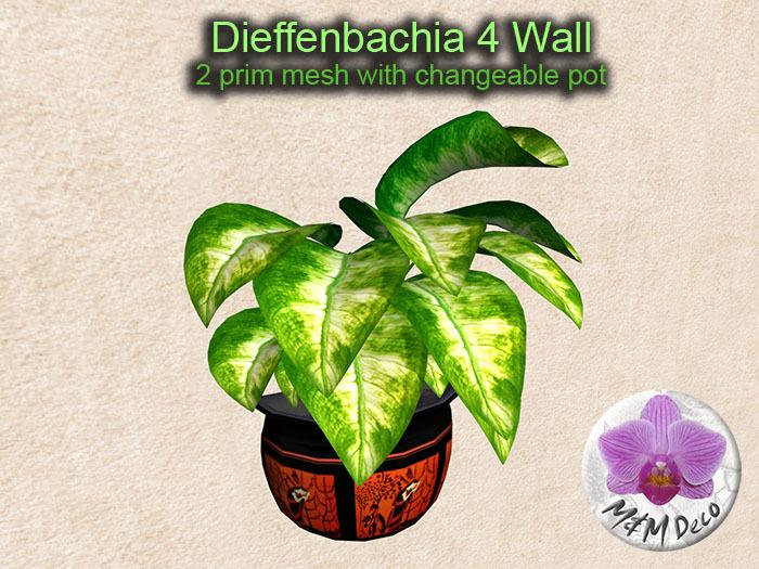 Mesh Plant Dieffenbachia 4 Wall