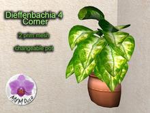 Mesh Plant Dieffenbachia 4 Corner