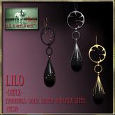 Bliensen + MaiTai - Lilo - Earrings - Onyx