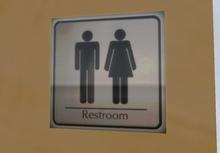 Restroom Sign - COPY/MOD - Clean Simple Bathroom Sign