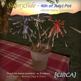 """[CIRCA] - """"SunnySide"""" 4th of July! Sparkler Pot (Giver) ~ DISCOUNTED 25% Off"""