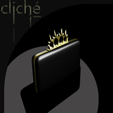 [CF] Spiked Knuckle Clutch (black)