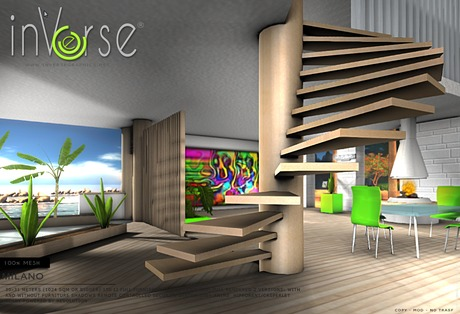 inVerse®- MILANO LOFT - *mesh* full furnished house skybox
