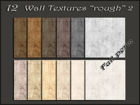"""Pack 12 wall textures """"rough"""" 2"""