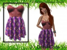 >> DressCode << [Gluttony Strapless Dress]