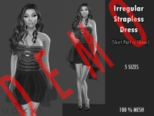 .::voxxi::. DEMO [Cortlyn] Irregular Strapless Dress