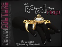 [DC] Royalty Ring Gold Leopard W/ Resize