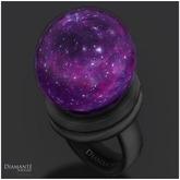 :Diamante: Purple Garargyrite Fantasy Globe Ring