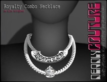 [DC] Royalty Combo Necklace Silver Chain/Choker W/ Resize (ADD)