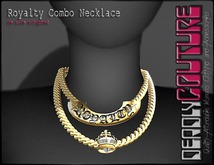 [DC] Royalty Combo Necklace Gold Chain/Choker W/ Resize)