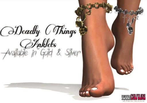 [DC] Deadly Things Anklets Gold W/ Resize