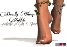 [DC] Deadly Things Anklet Silver W/ Resize