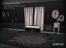 "[CIRCA] - ""Constantine"" Gothic Furniture/Decor Full Set (B&W) ~ DISCOUNTED 50% Off"