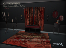 """[CIRCA] - """"Constantine"""" Gothic Furniture/Decor Full Set (Red) ~ DISCOUNTED 50% Off"""