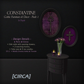 """[CIRCA] - """"Constantine"""" Gothic Furniture/Decor - Pack2 (Purp) ~ DISCOUNTED 50% Off"""