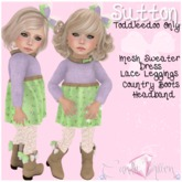 {C*K} Sutton Toddleedoo Outfit Baby & Kid Purple