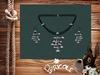 """"""" Boulier """" Necklace & Earrings"""