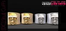 [DC] Skull Cuffs SIlver W/ Resize (wear/add me)