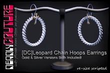 [DC]Leopard Chain Hoops Earring Gold & Silver W/Resize