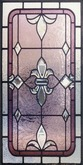 Steampunk Beveled Mauve Fleur Stained Glass