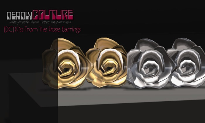 [DC] Kiss From The Rose Earrings Gold & Silver