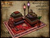Oriental carpet with pillows and lamps v1 - Old World - Rustic furniture