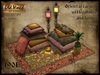 Oriental carpet with pillows and lamps v2 - Old World - Rustic furniture