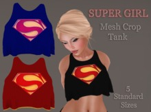 <BIC> Supergirl Loose Crop Tank (MESH w/HUD)