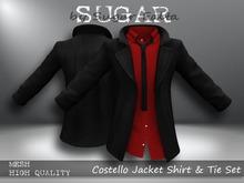 SUGAR - Costello Jacket Shirt & Tie Set 5 RED