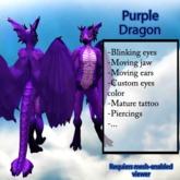Furry Dragon - Purple