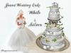 Dr3amweaver Grand Wedding Cake (White & Silver)