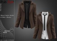 PobZeb: Cruiser Jacket & Shirt Red [MESH] Cruiser Jacket & Shirt Bronze [MESH]