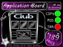 Application Board 1 DJ / Host / Dancer etc.