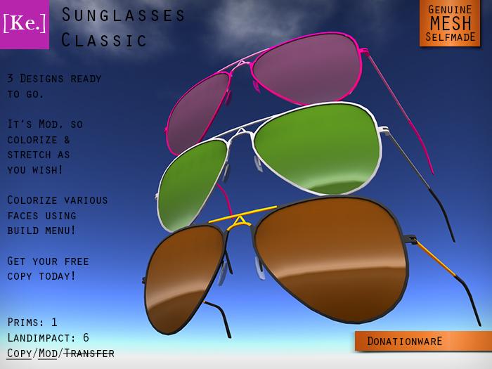[Ke.] Sunglasses Classic (Mesh)