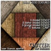 Clutter for Builders - Barn Wood Textures