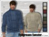 [Phunk] Mesh Men's Fishermans Sweater w/HUD (8 Colors)