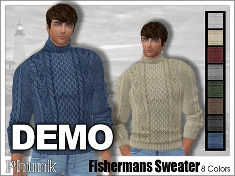 DEMO [Phunk] Mesh Men's Fishermans Sweater