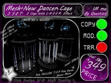 Cage 3 Cage Set & Laser Effect Color Changer Rota on/off 6Dance