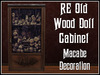 RE Old Wood Doll Cabinet - Haunted House or Spooky Decoration/Decor